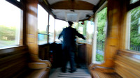 Mike Dunn, driver of the Tram, at the Black Country Living Museu